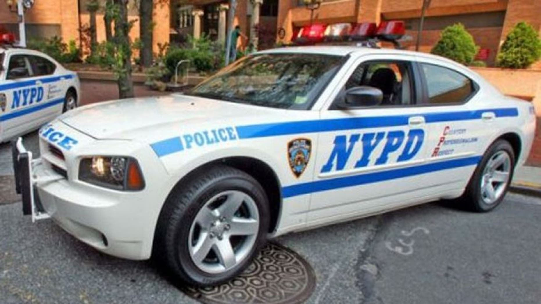 This undated photo shows an NYPD police car