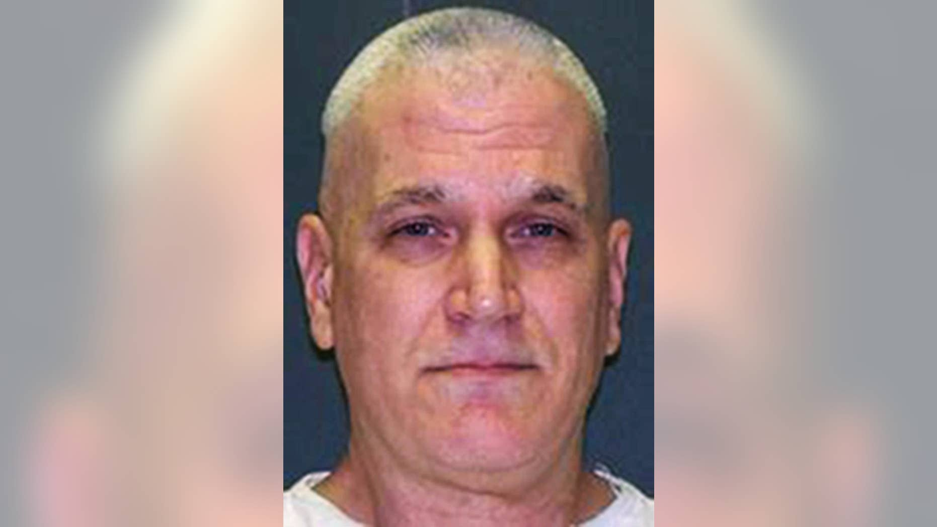 FILE - This undated file photo provided by the Texas Department of Criminal Justice shows John David Battaglia. A Texas judge on Friday, Nov. 18, 2016, ruled that Battaglia is mentally competent enough to be executed next month for fatally shooting his two young daughters more than 15 years ago while their mother listened helplessly over the phone. (Texas Department of Criminal Justice via AP, File)