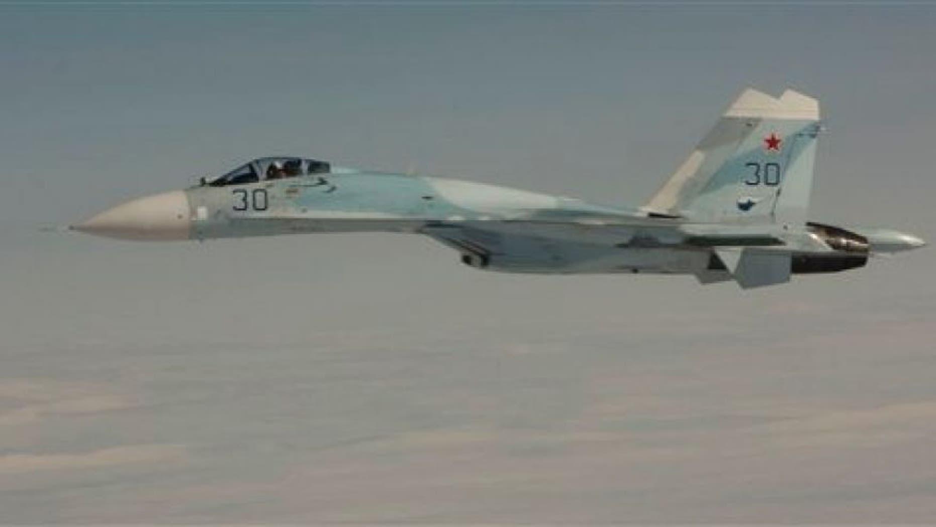 A Russian Su-27 fighter jet in 2010.