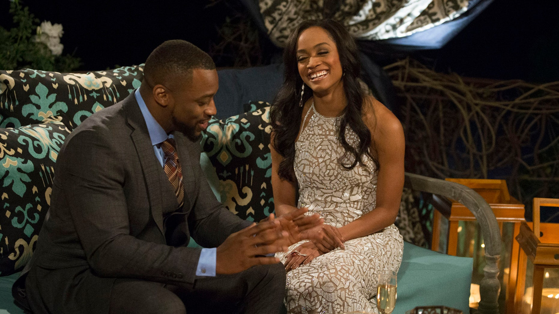 """BACHELORETTE 13 - """"Episode 1301"""" - Accomplished Texas attorney Rachel Lindsay takes a recess from the courtroom to start her search for happily ever after in the 13th edition of ABC's hit series, """"The Bachelorette,"""" premiering at a special time, MONDAY, MAY 22 (9:01-11:00 p.m. EDT), on The ABC Television Network. (ABC/Paul Hebert)KENNY, RACHEL LINDSAY"""