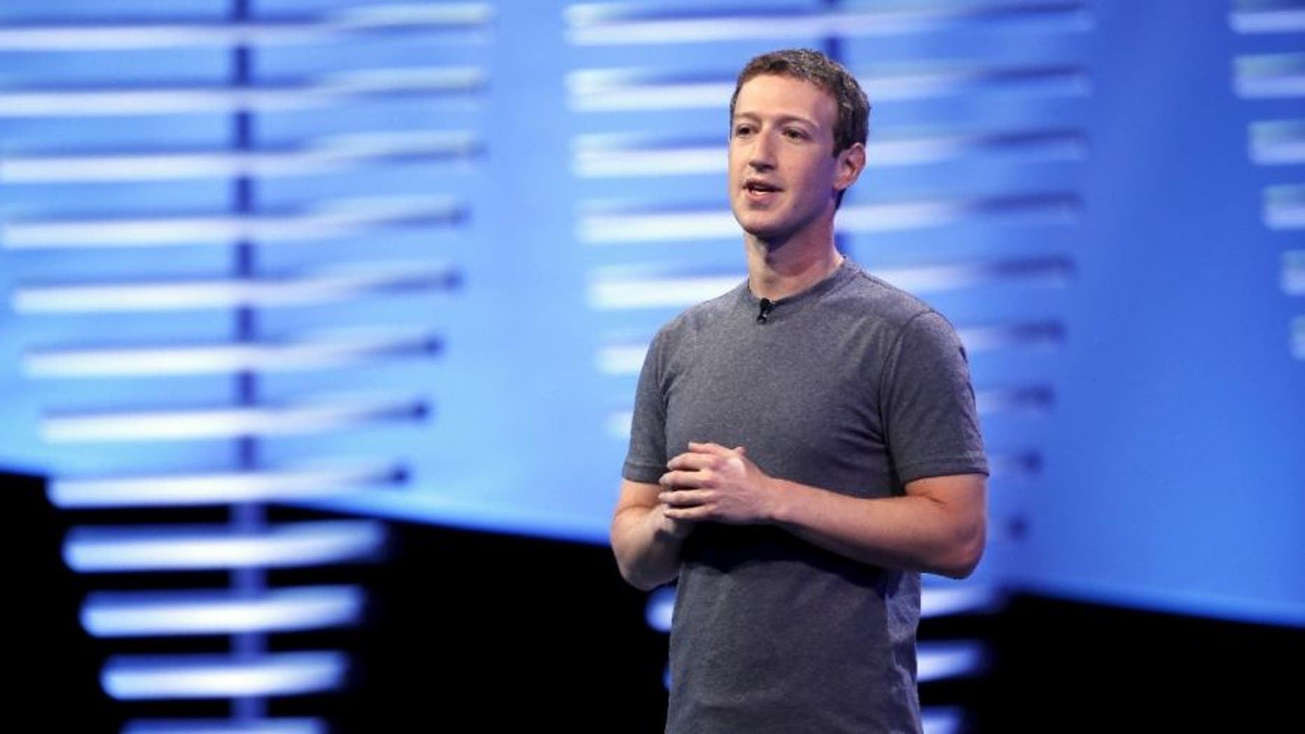 File photo - Facebook CEO Mark Zuckerberg speaks on stage during the Facebook F8 conference in San Francisco, California April 12, 2016.