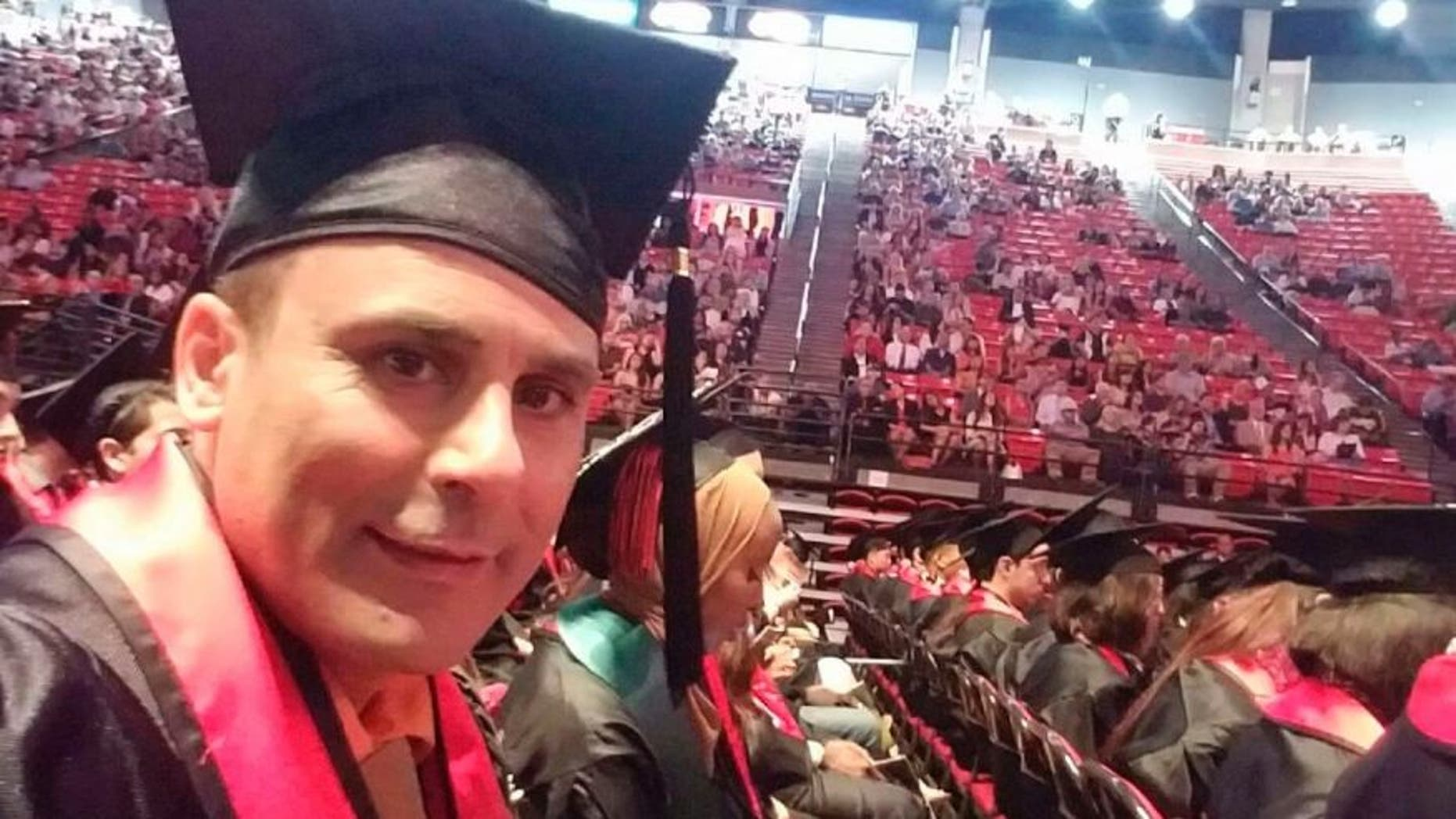 Robin Shahini during his San Diego State University graduation ceremony in May 2016.