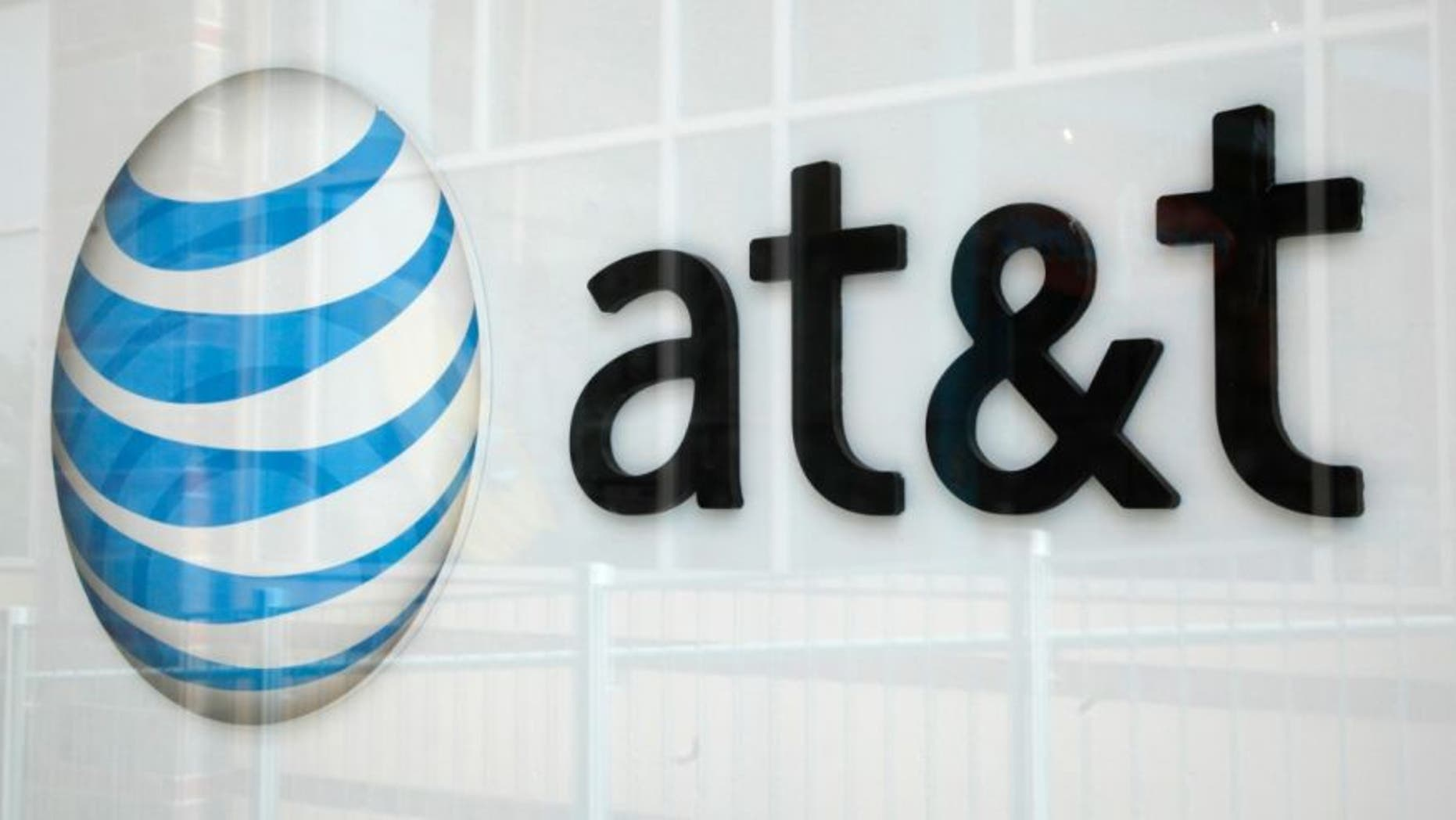 File photo: A view shows the AT&T store sign in Broomfield, Colorado April 20, 2011.