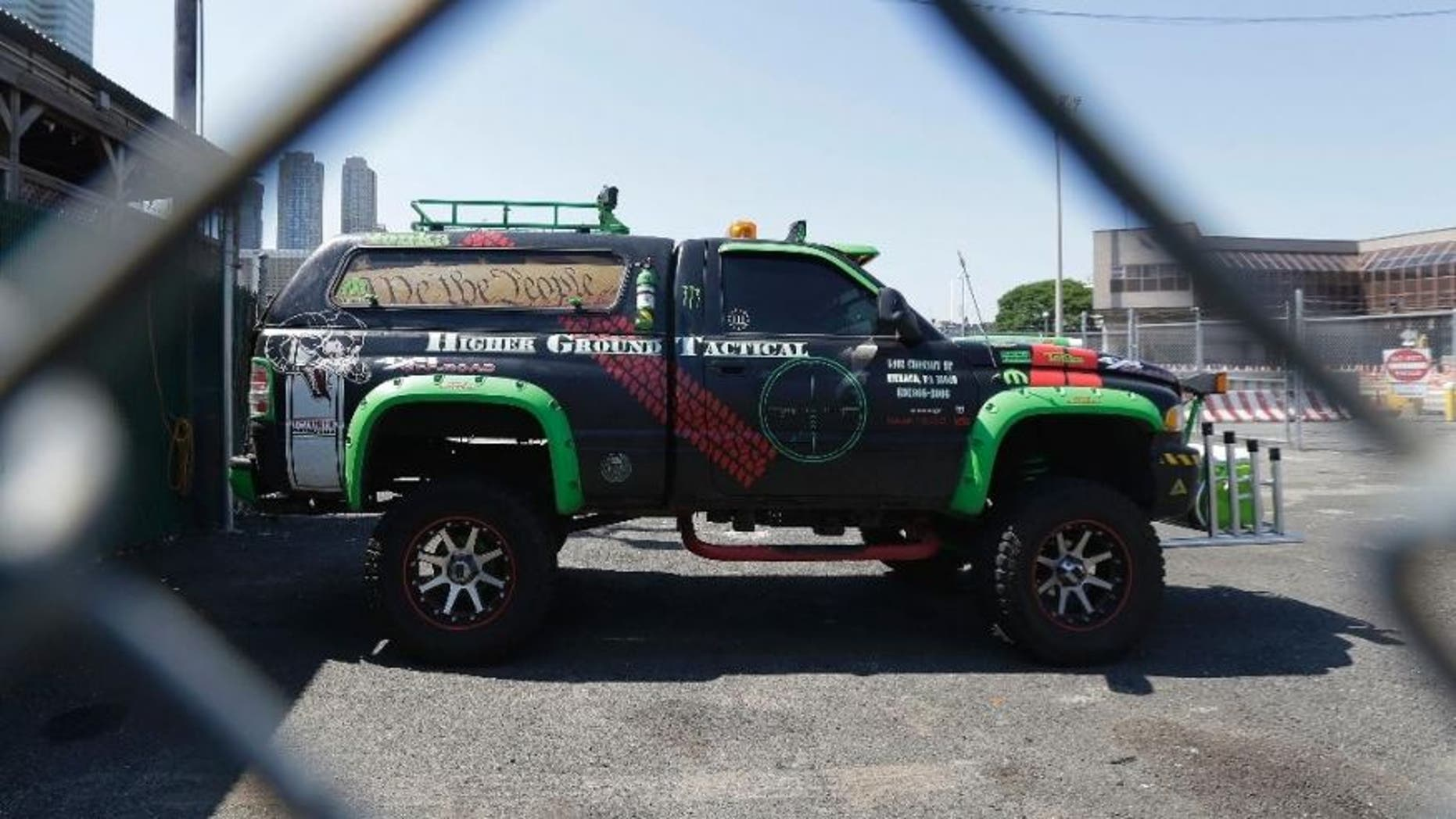 John Cramsey's vehicle sits in the impound lot of The Port Authority of New York & New Jersey.
