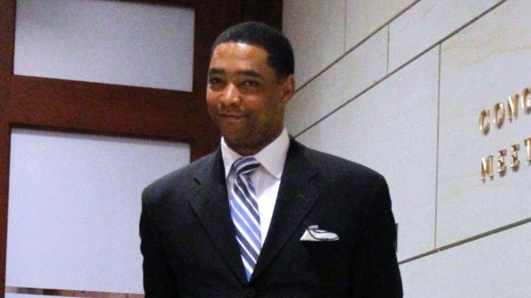Rep. Cedric Richmond, D-La., in the Capitol Hill visitor's center