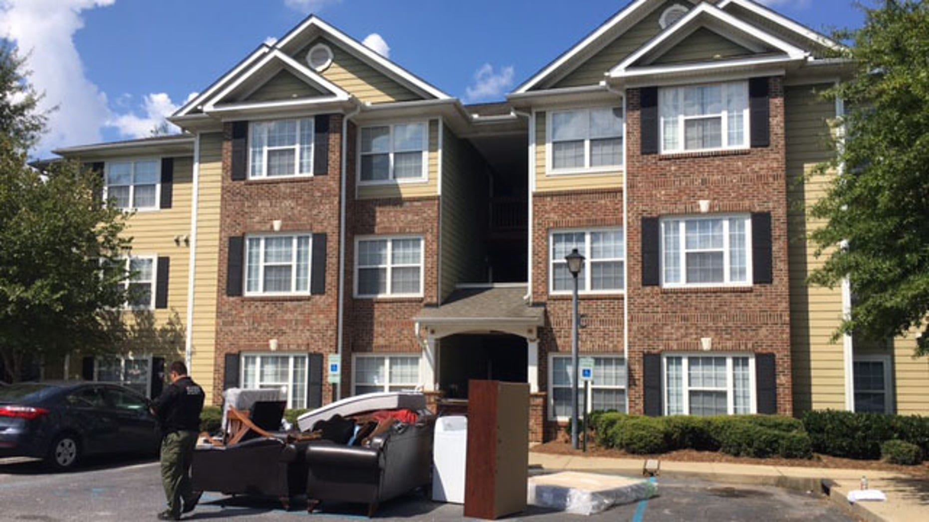 The remains of a baby was found at an apartment complex in Fountain Inn, police said.