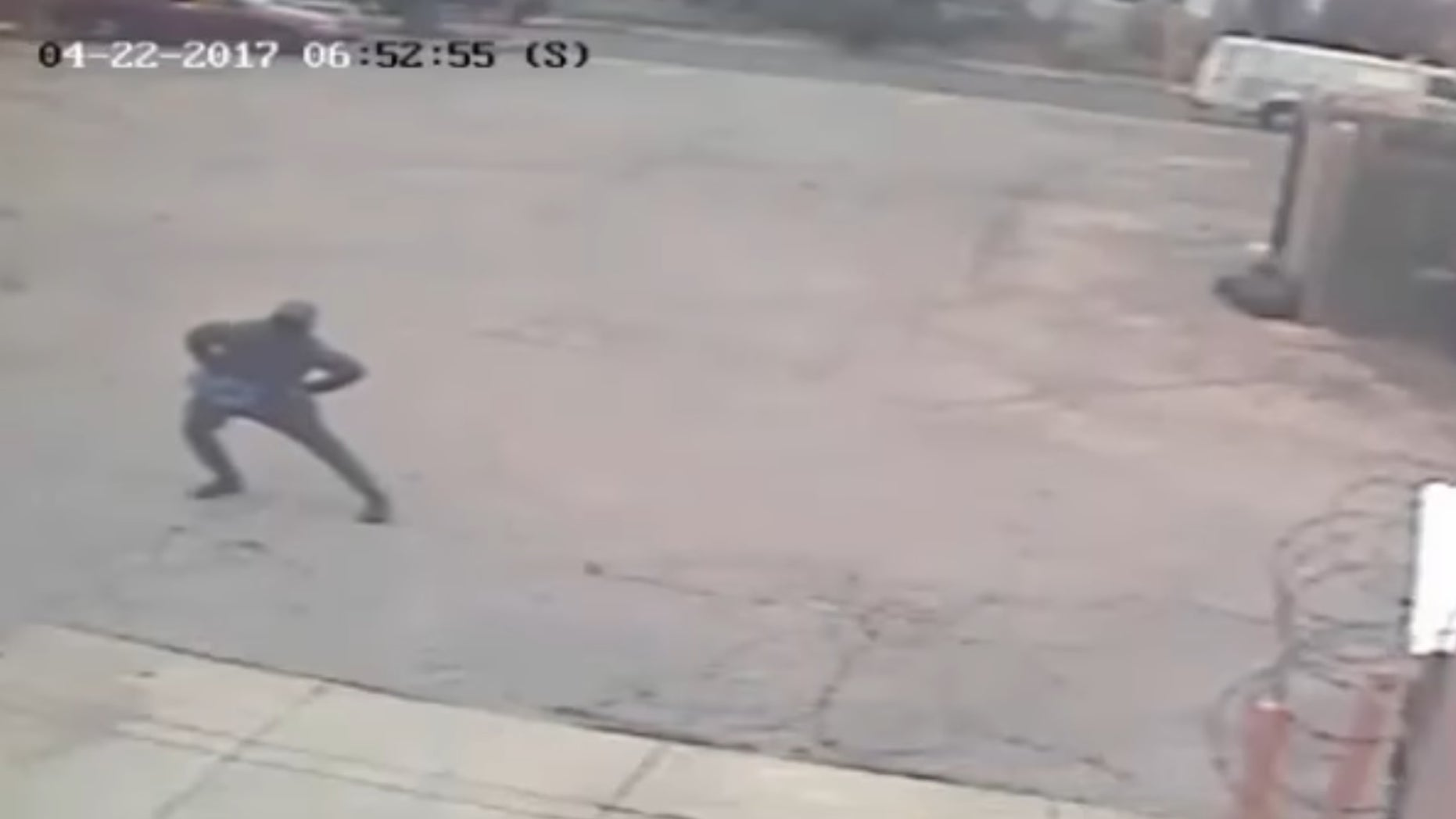 Philadelphia Dunkin' Donuts robber spotted stretching
