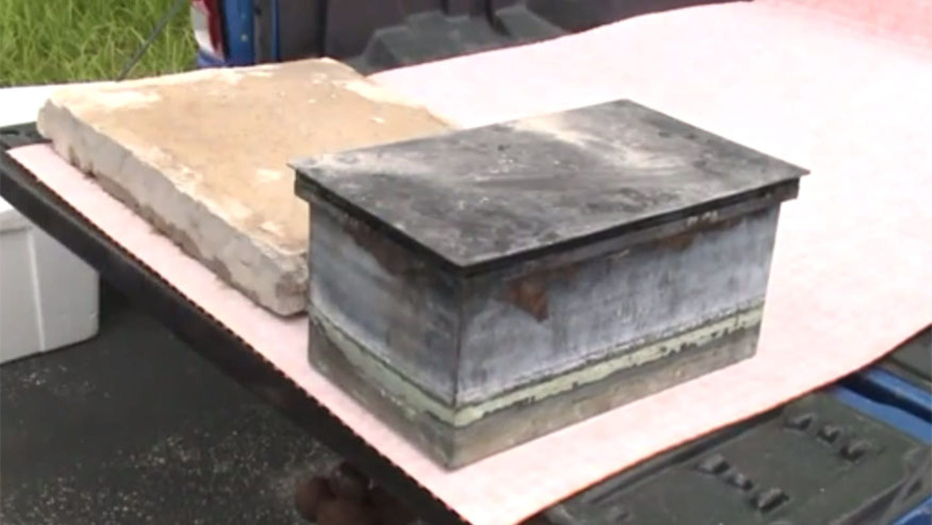 Time capsule recovered from under the controversial Confederate Memorial in St. Louis.