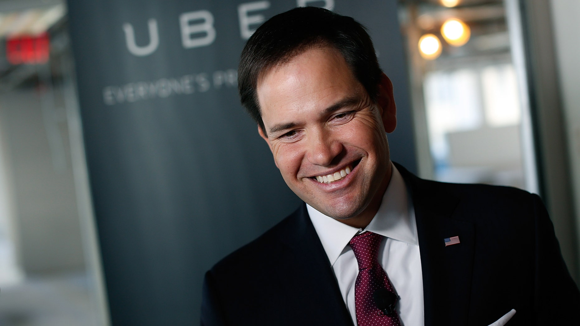 U.S. Sen. Marco Rubio speaks at Uber's headquarters March 23, 2014 in Washington, DC.