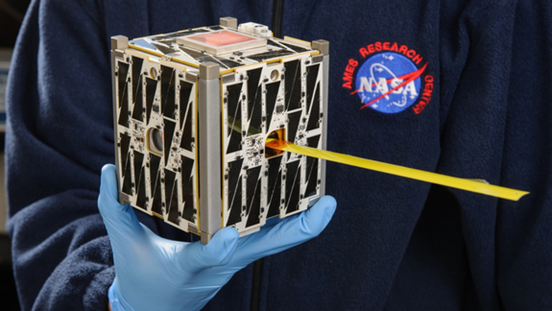 PhoneSat 2.5, developed at NASA's Ames Research Center in Moffett Field, California and launched in March 2014, uses commercially available smartphone technology to collect data on the long-term performance of consumer technologies used in spac