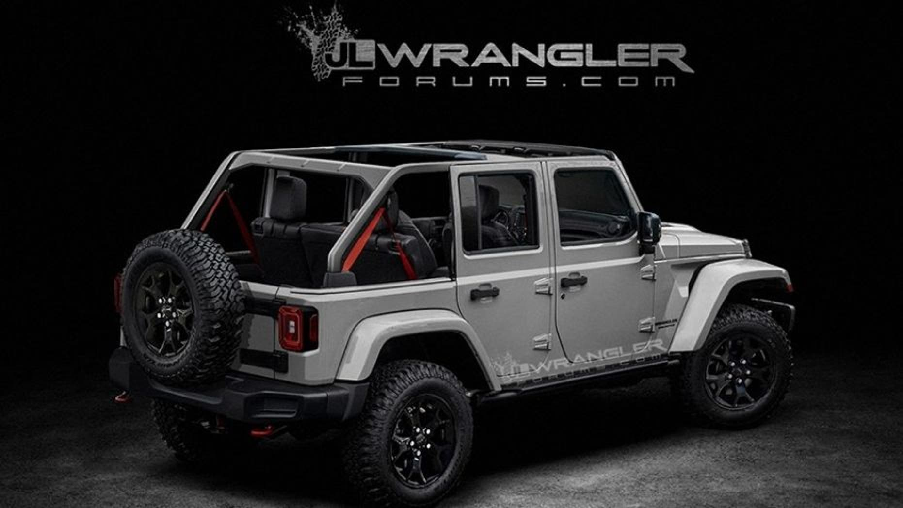 Speculative rendering of the new Jeep Wrangler