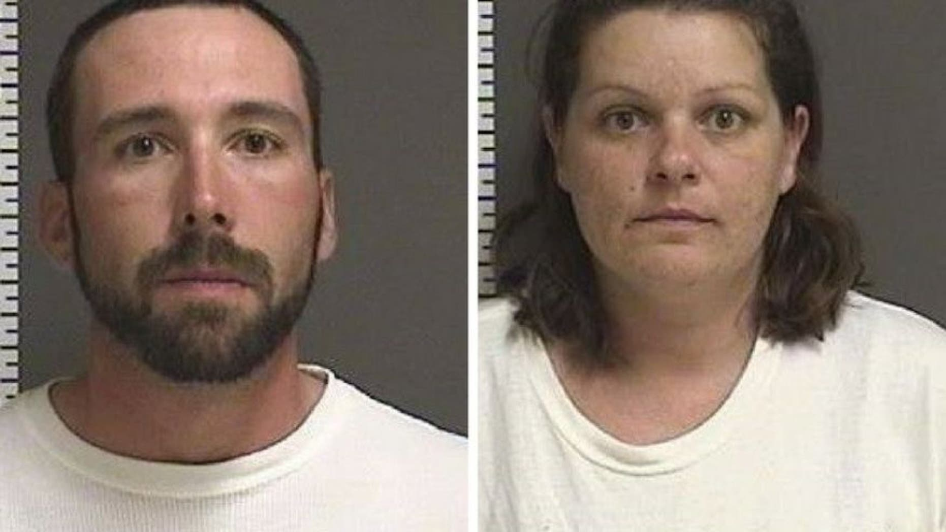 William Henry Hoehn, 32, and Brooke Lynn Crews, 38, were arrested last Thursday in Savanna Greywind's disappearance. (Fargo Police)