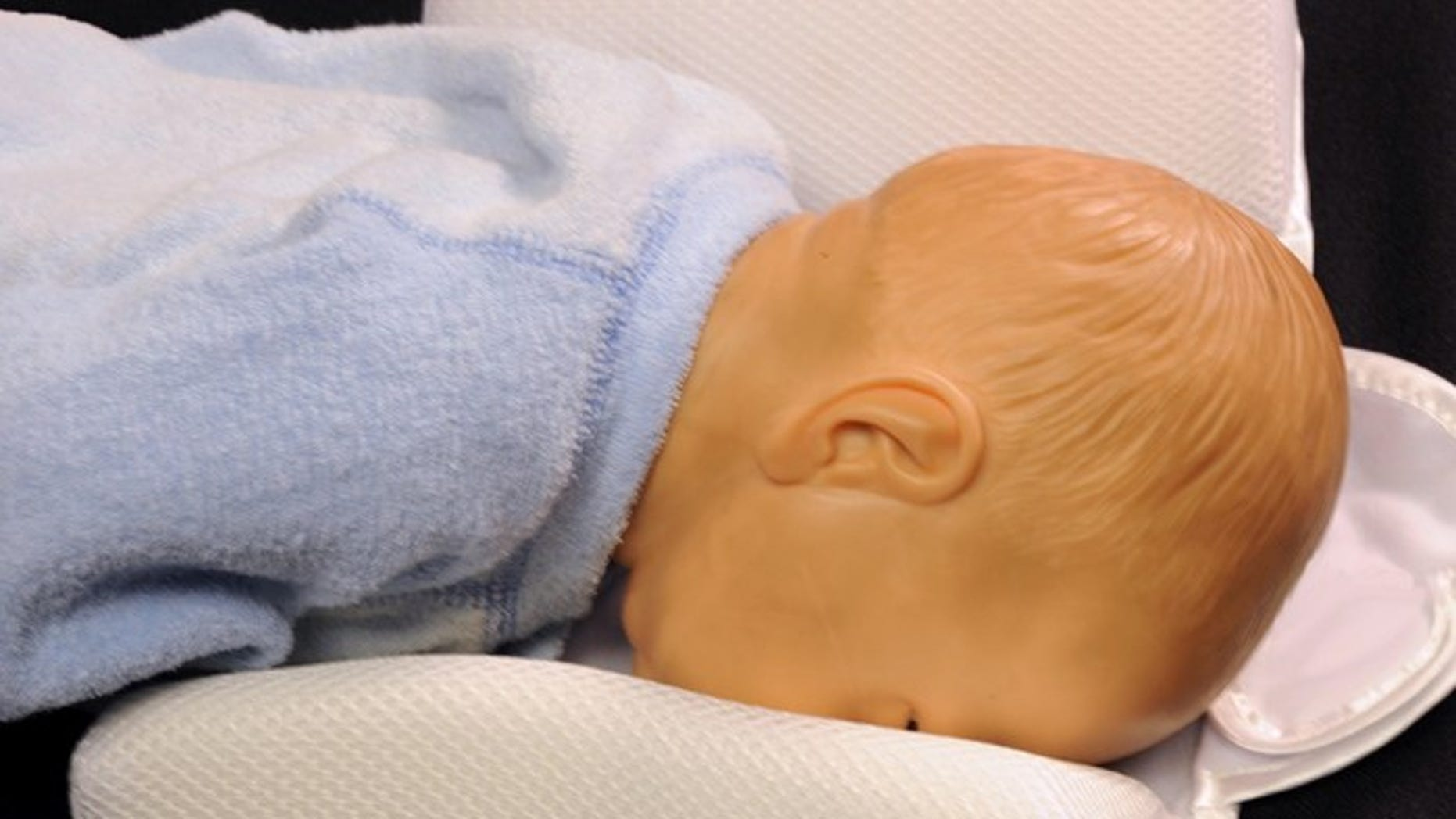 The orthopedic pillow intended for newborns