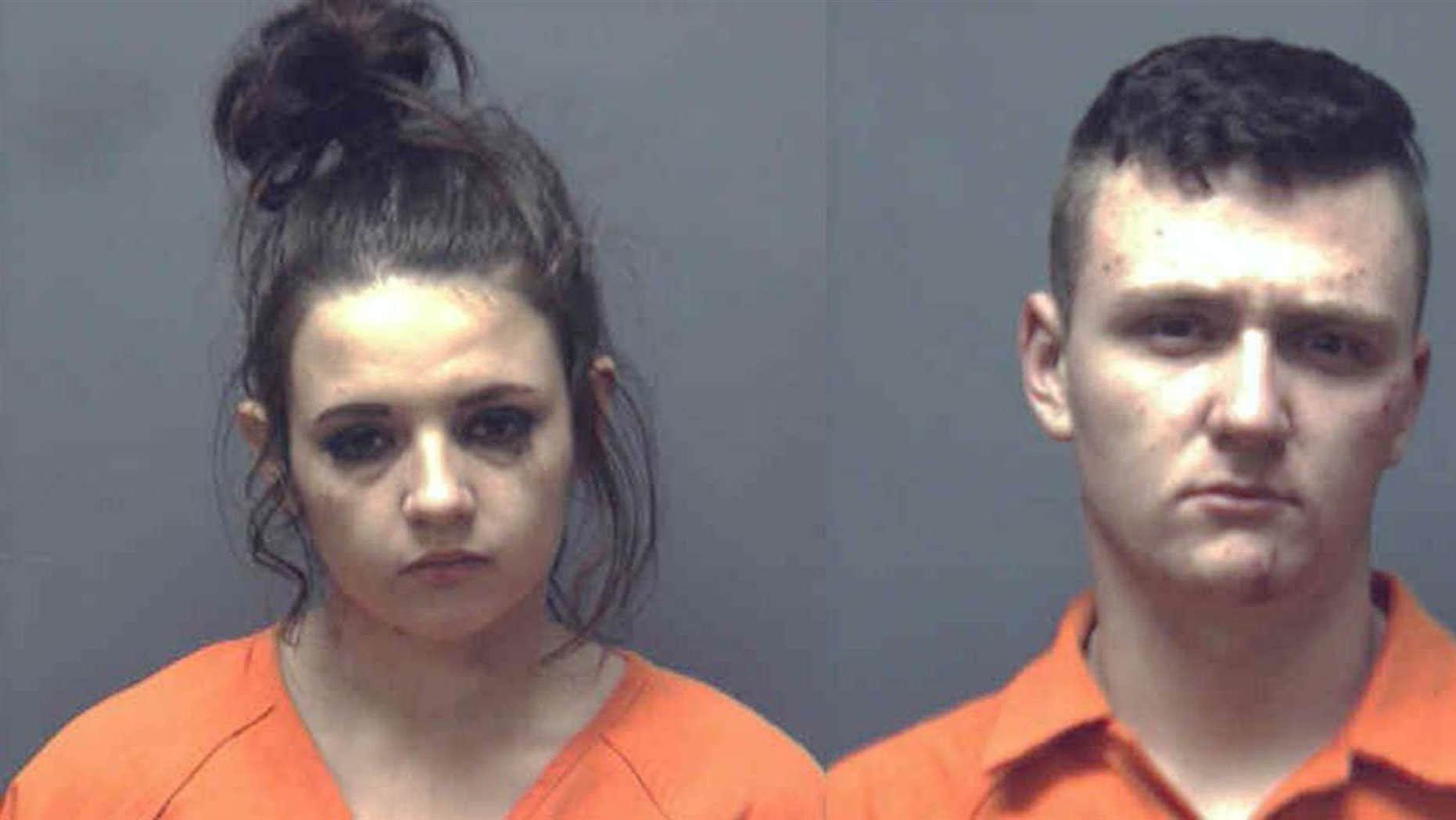 Cassidy Francis, left, and Chase McKinney led police on a car chase, officials said.