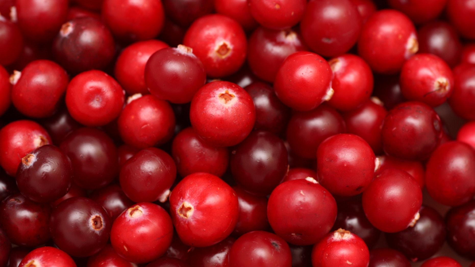 Cranberries close-up.