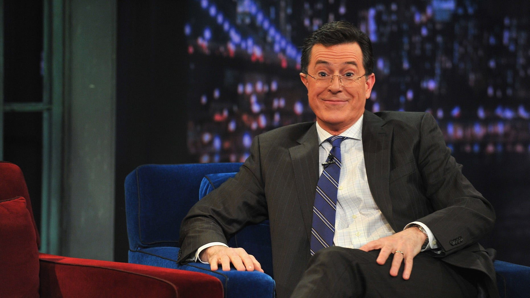 """Stephen Colbert visits """"Late Night With Jimmy Fallon"""" on February 21, 2013 in New York City."""
