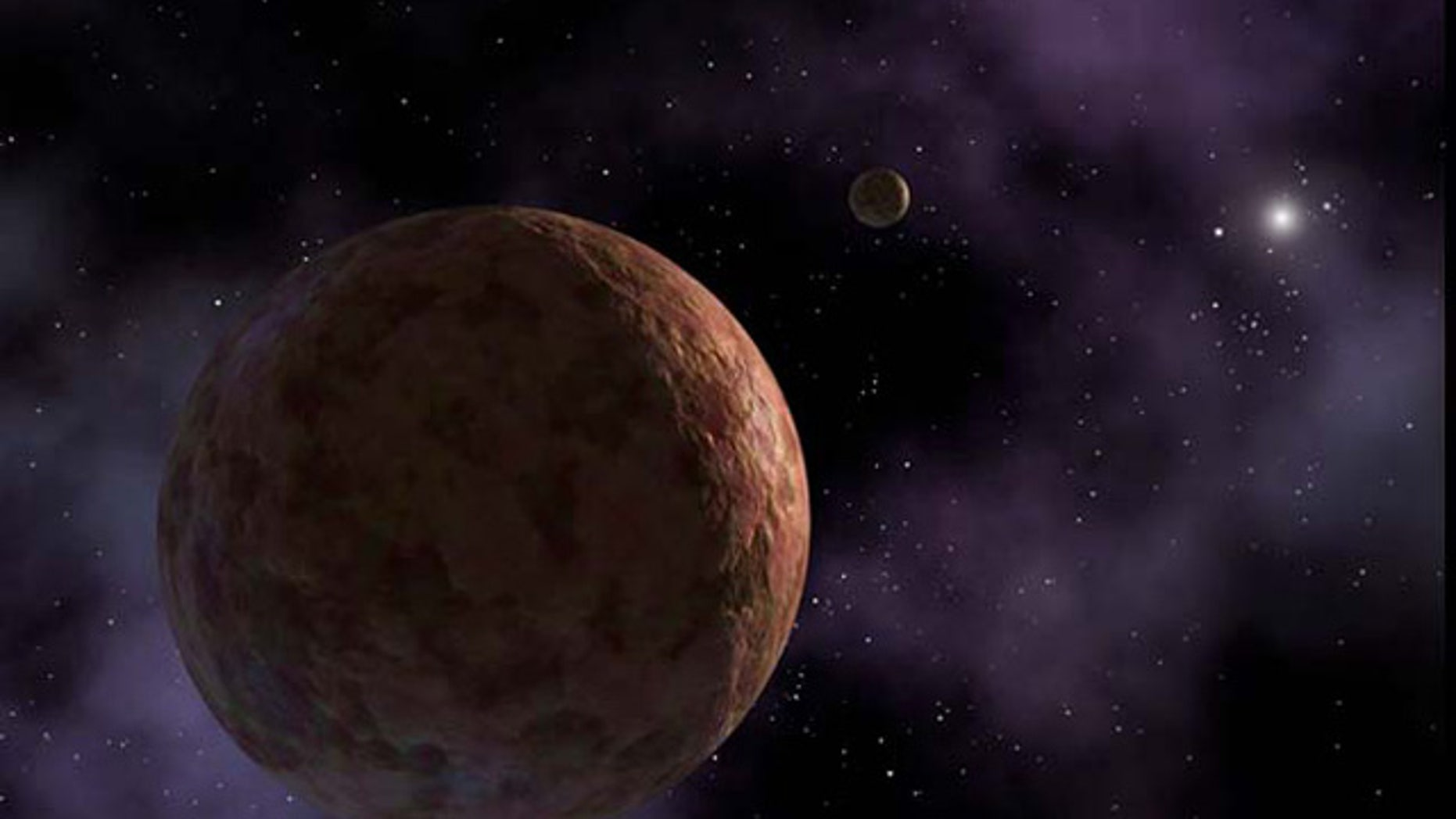 Artist's conception of Sedna, an exoplanet hiding on the fringes of our solar system.