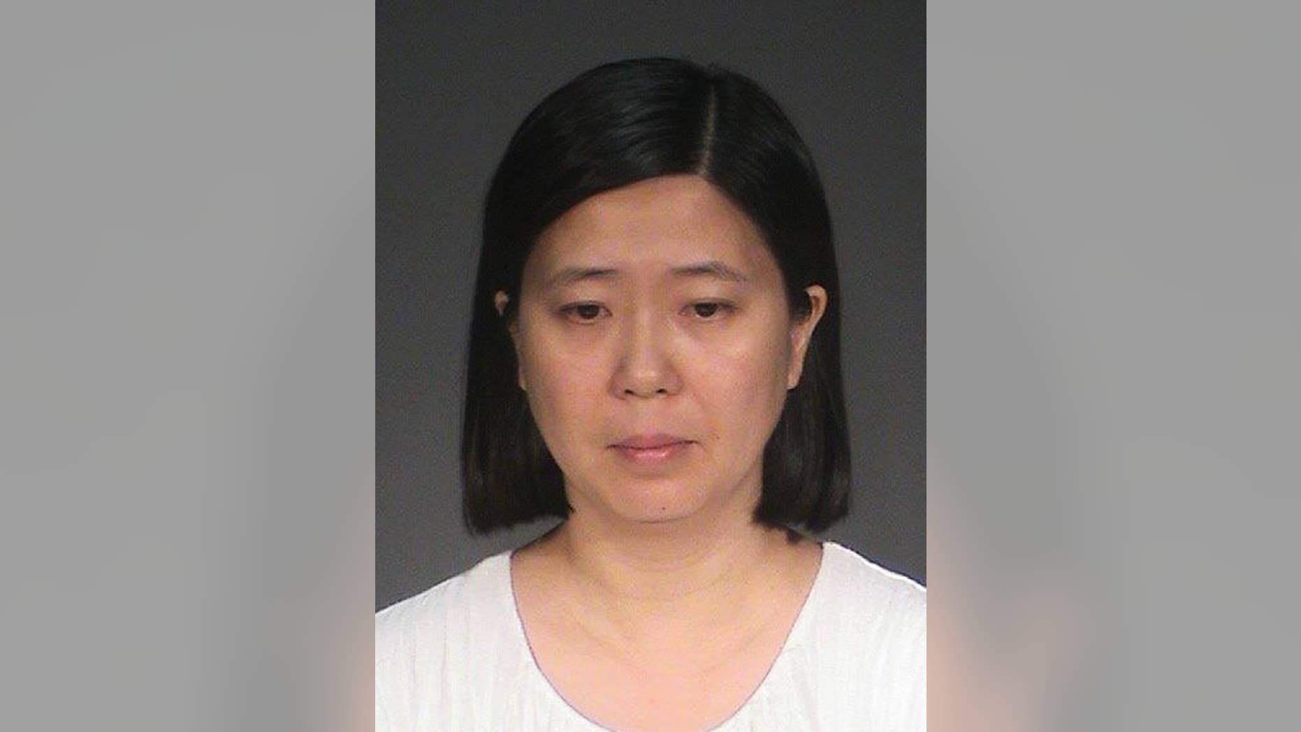 This photo provided by the Washington County Jail shows Lili Huang. The Minnesota woman, of Woodbury, is charged in Washington County with five felony counts, including labor trafficking, false imprisonment and assault. Huang remains in jail after making her initial court appearance Friday, July 15, 2016, the Star Tribune reported. (Washington County Jail via AP)