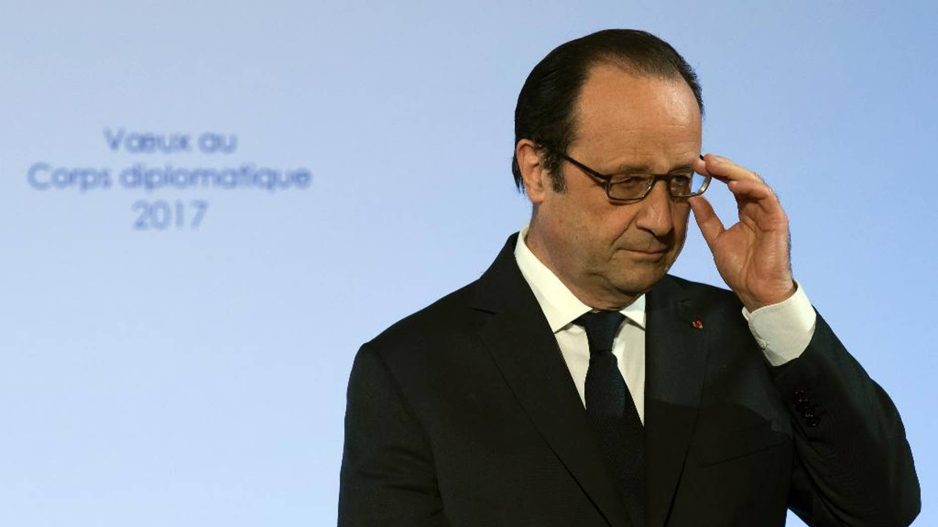 French president Francois Hollande in January.