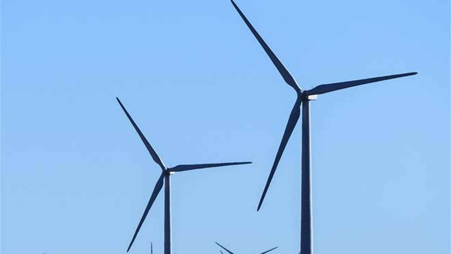 Windmills at a wind farm in Minco, Okla., that provides Google with some of its renewable energy.