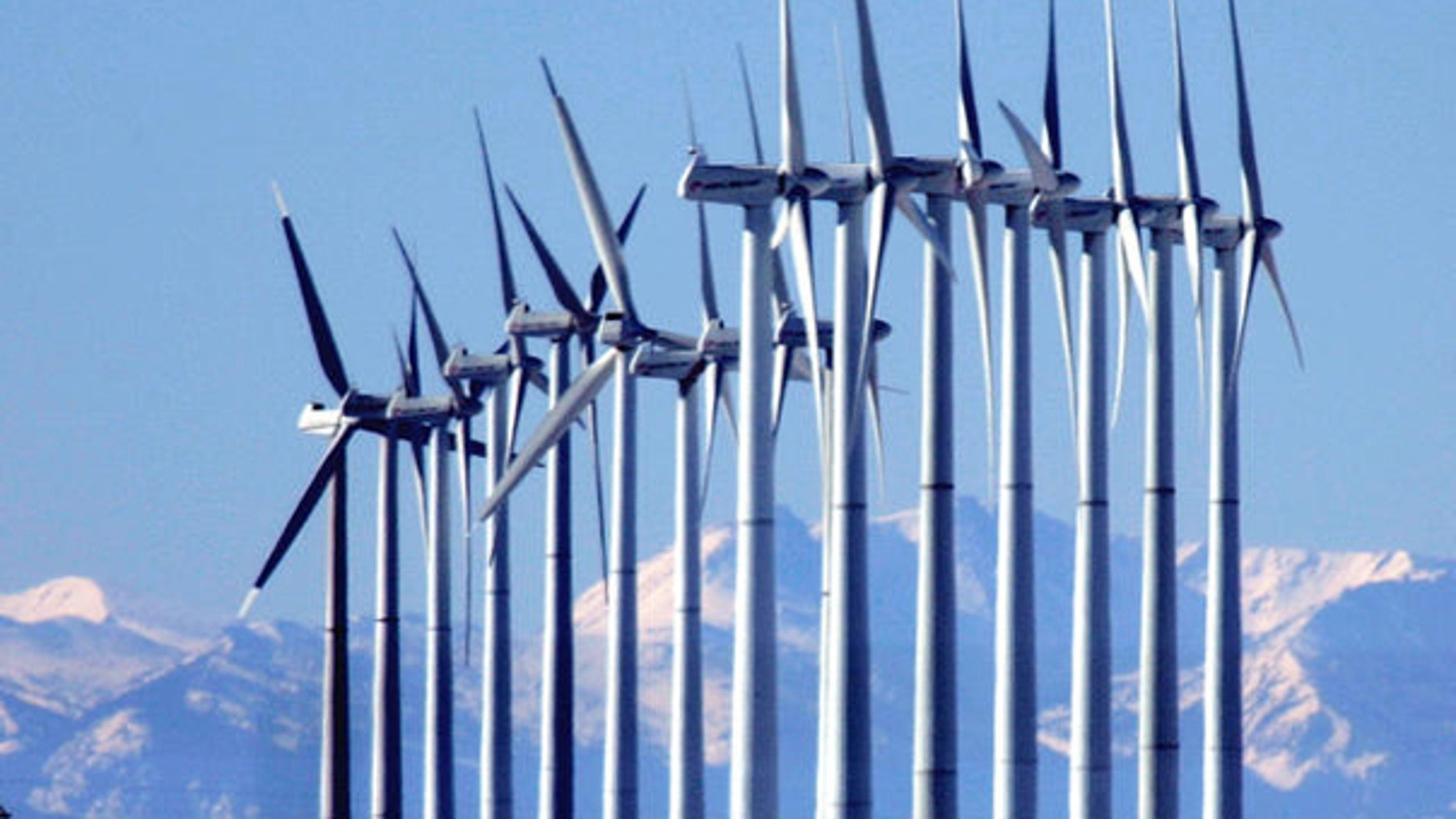 A wind farm in Colorado is shown here. (AP Photo)