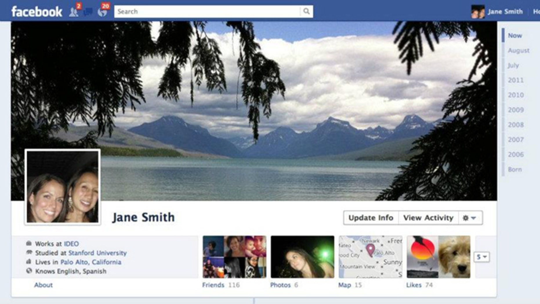 Sept. 22, 2011: A revamped profile page is just one of a series of interface changes Facebook rolled out at its f8 developer conference.