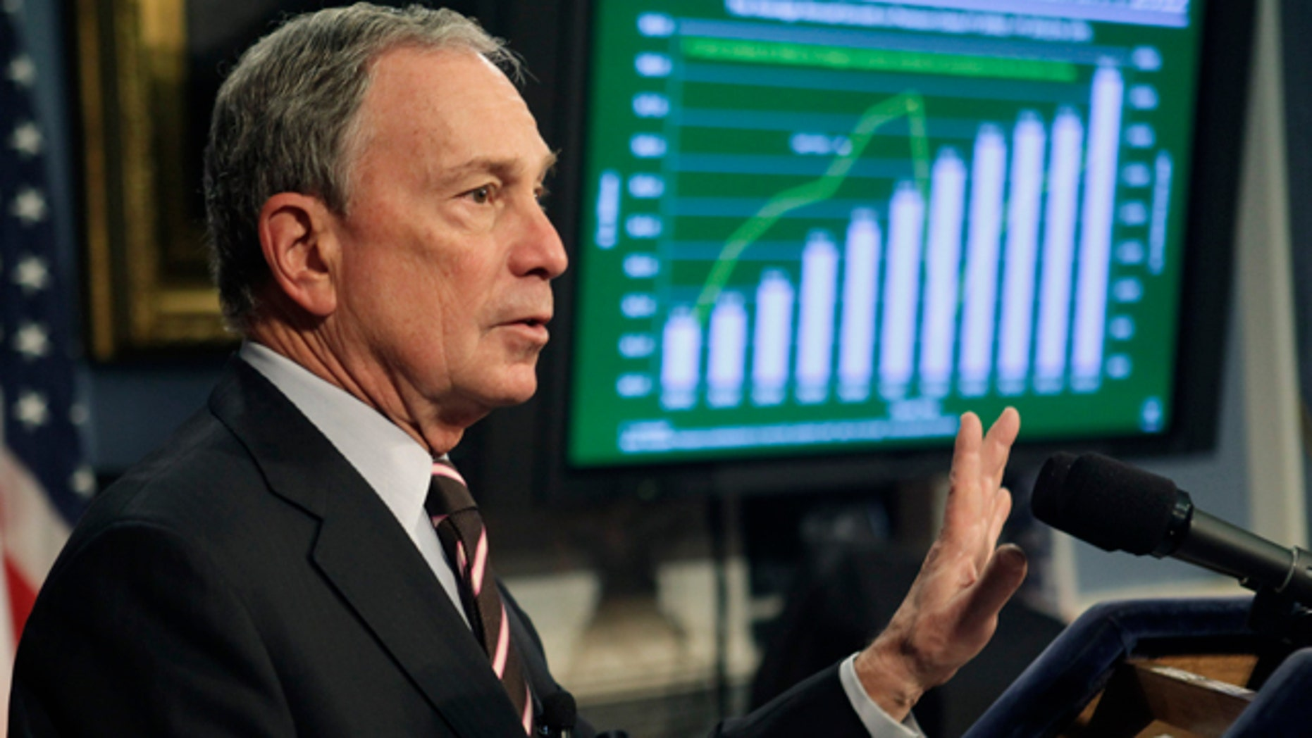 New York City Mayor Michael Bloomberg delivers the fiscal year 2012 budget, Thursday, Feb. 17, 2011 at City Hall in New York.