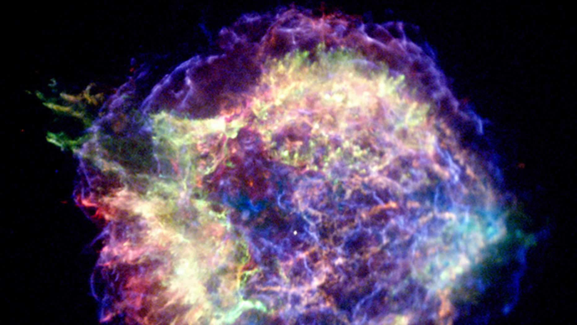 A supernova like that one that formed this remnant, Cassiopeia A, may have sparked the formation of our solar system, an August 2012 study suggests.