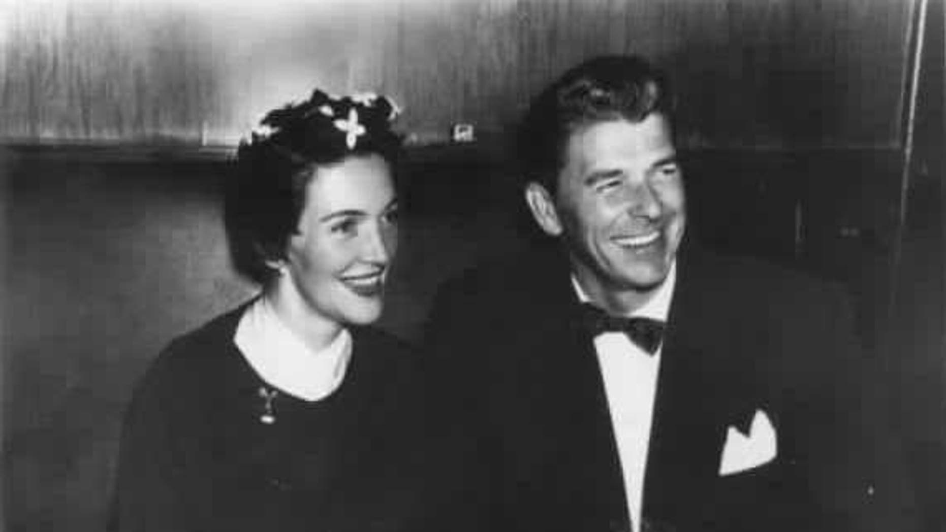 """Nancy and Ronald Reagan at New York City's """"Stork Club"""" in the 1950s.<br>"""