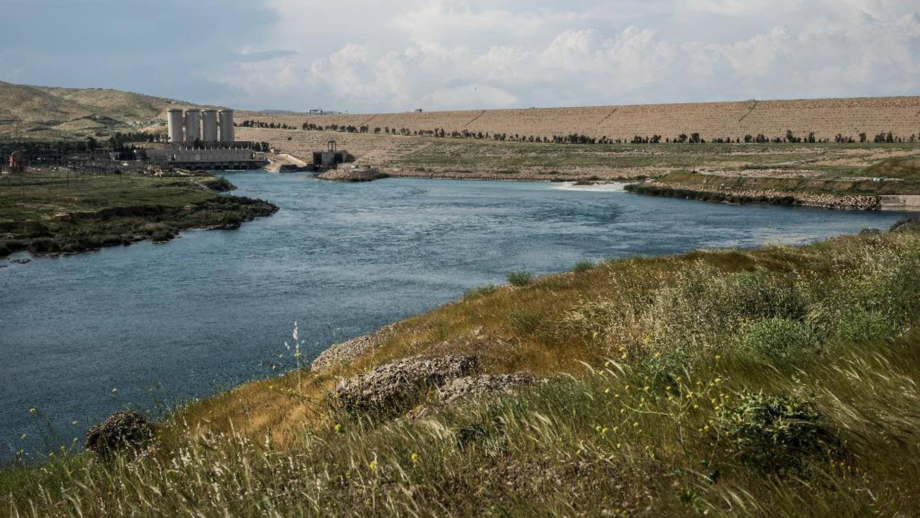 The Mosul Dam in April.