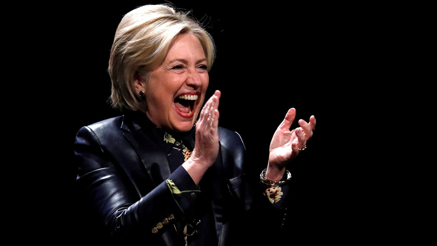 Hillary Clinton thanked supporters for their feminism and their activism on Friday night.