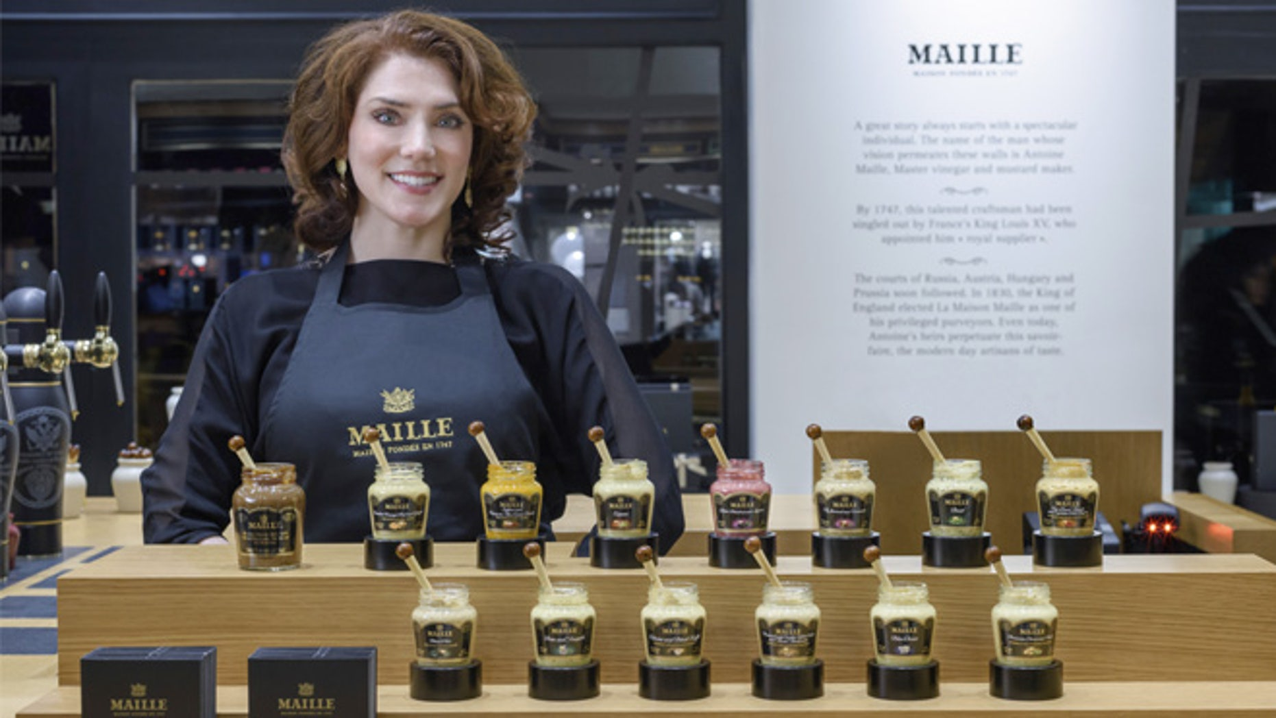 """Pierette Huttner is Maille's mustard """"sommelier"""" --which the company says is a first for the U.S."""