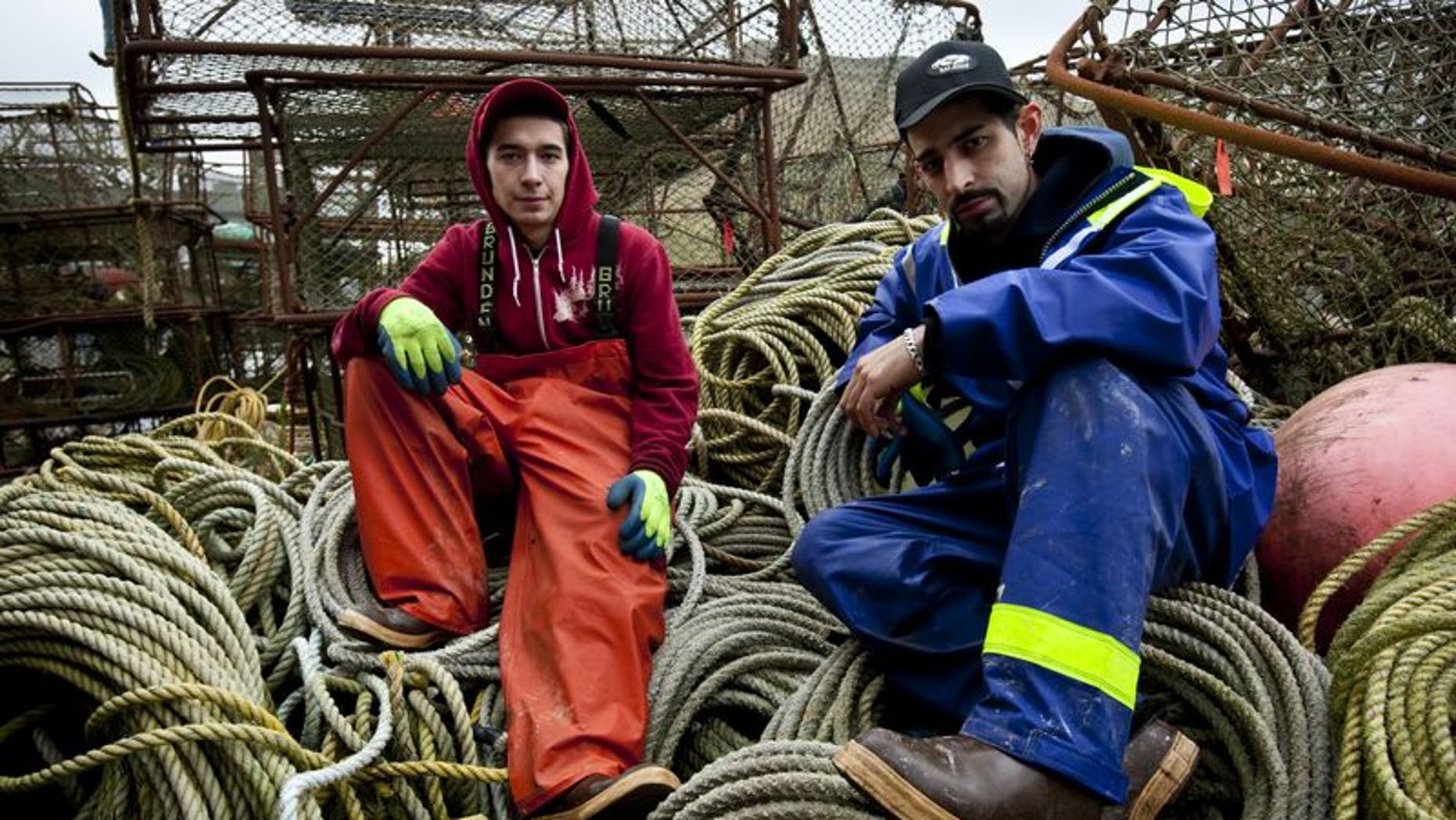 Cornelia Marie Deckhands and brothers Jake Harris (left) and Josh Harris are photographed during Deadliest Catch season six.