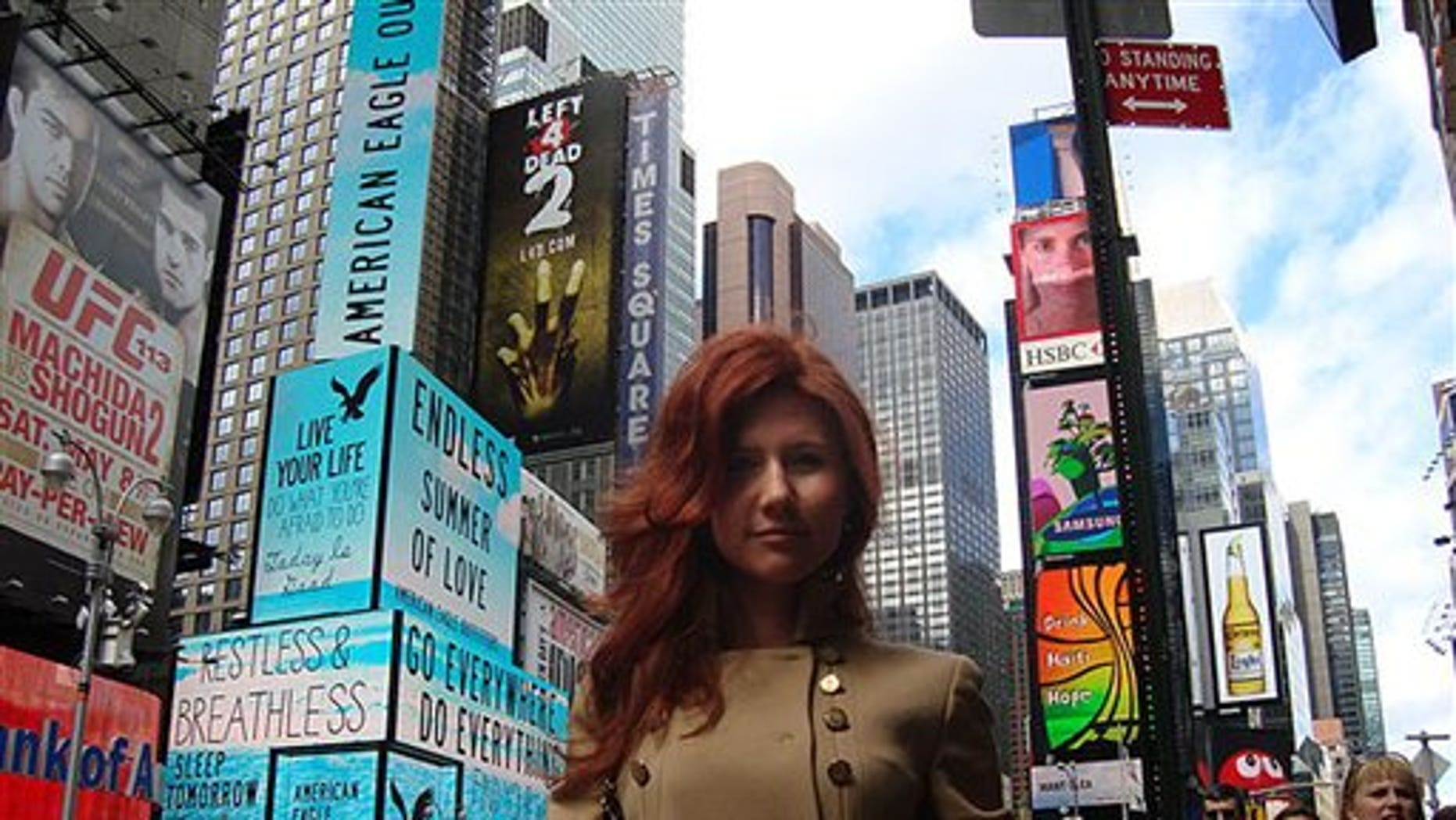 """This undated image taken from the Russian social networking website """"Odnoklassniki"""", or Classmates, shows a woman journalists have identified as Anna Chapman, who appeared at a hearing Monday, June 28, 2010 in New York federal court. Chapman, along with 10 others, was arrested on charges of conspiracy to act as an agent of a foreign government without notifying the U.S. attorney general. The caption on Odnoklassniki reads  """"Russia, Moscow. Left 4 dead???"""" (AP Photo)"""
