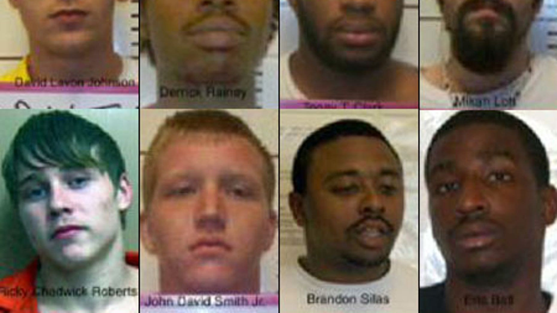 The eight inmates who staged a daring escape from Mississippi's Marion County Jail.