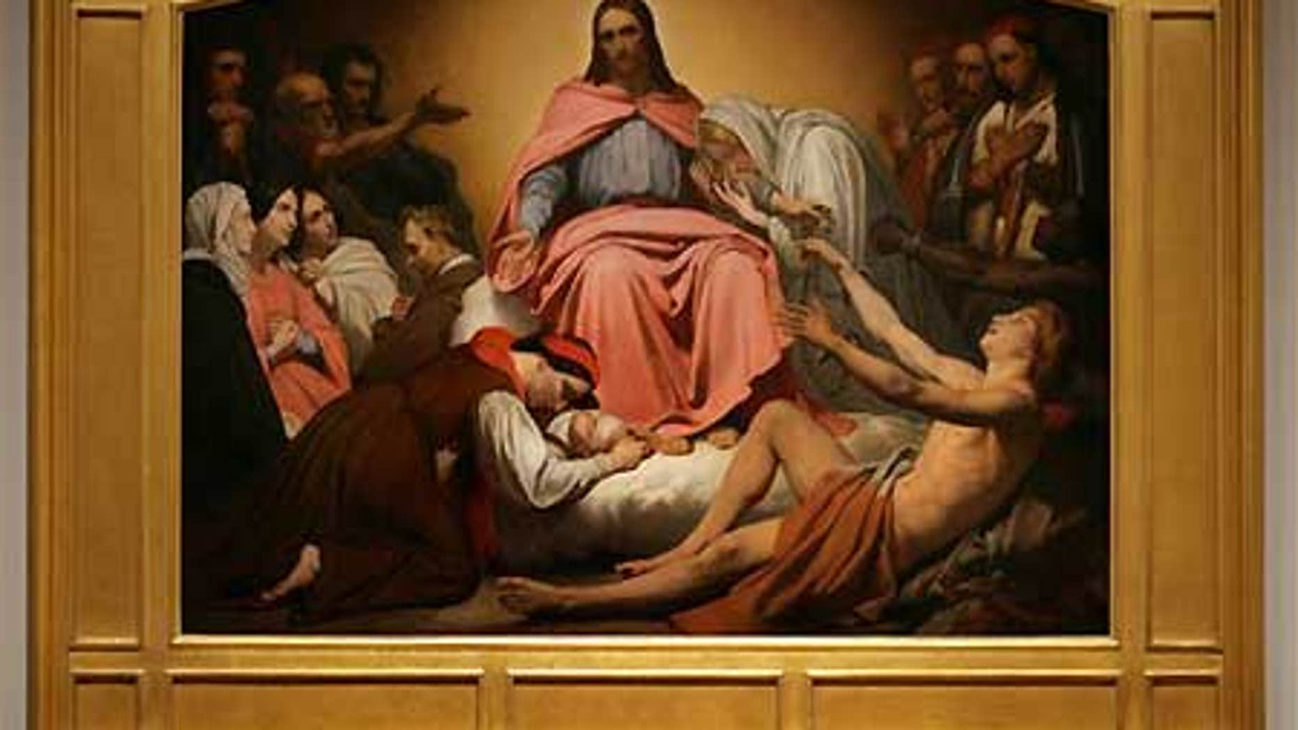 """The painting """"Christus Consolator' by the Dutch-born, French-trained artist Ary Scheffer, one of the pre-eminent Romantic painters in Paris."""