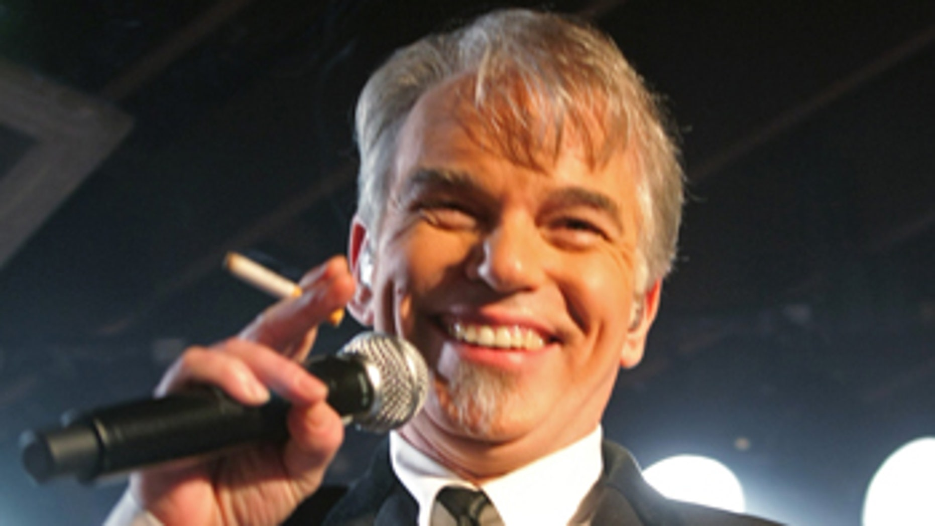 In this photo taken Wednesday, March 18, 2009, Billy Bob Thornton and the Boxmasters perform at the SXSW Music Festival Festival in Austin, Texas. In a radio appearance reminiscent of David's Letterman's interview with actor-turned-rapper Joaquin Phoenix, Billy Bob Thornton gave a puzzling and intentionally difficult interview Wednesday, April 8, 2009. (AP Photo/Jack Plunkett)