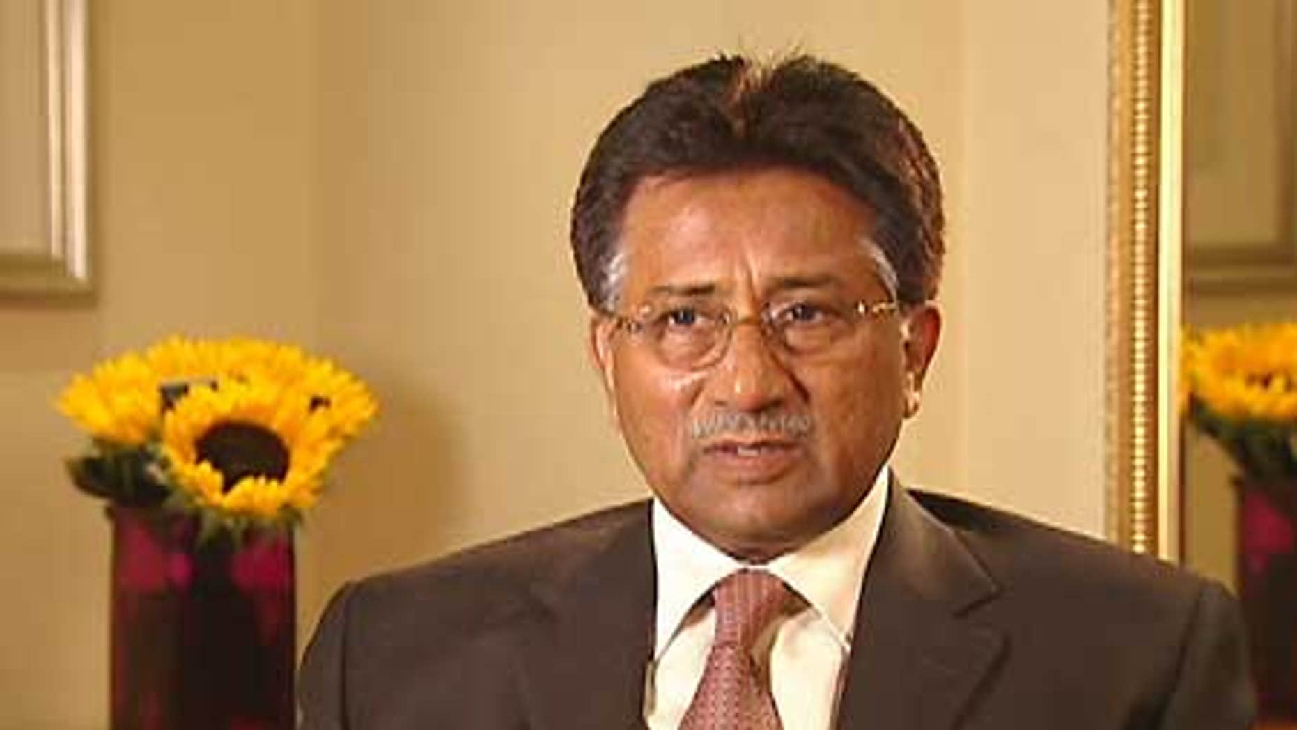 Former Pakistani President Pervez Musharraf believes his country should be given drone aircraft to target terrorists, he told FOX News in an exclusive interview.