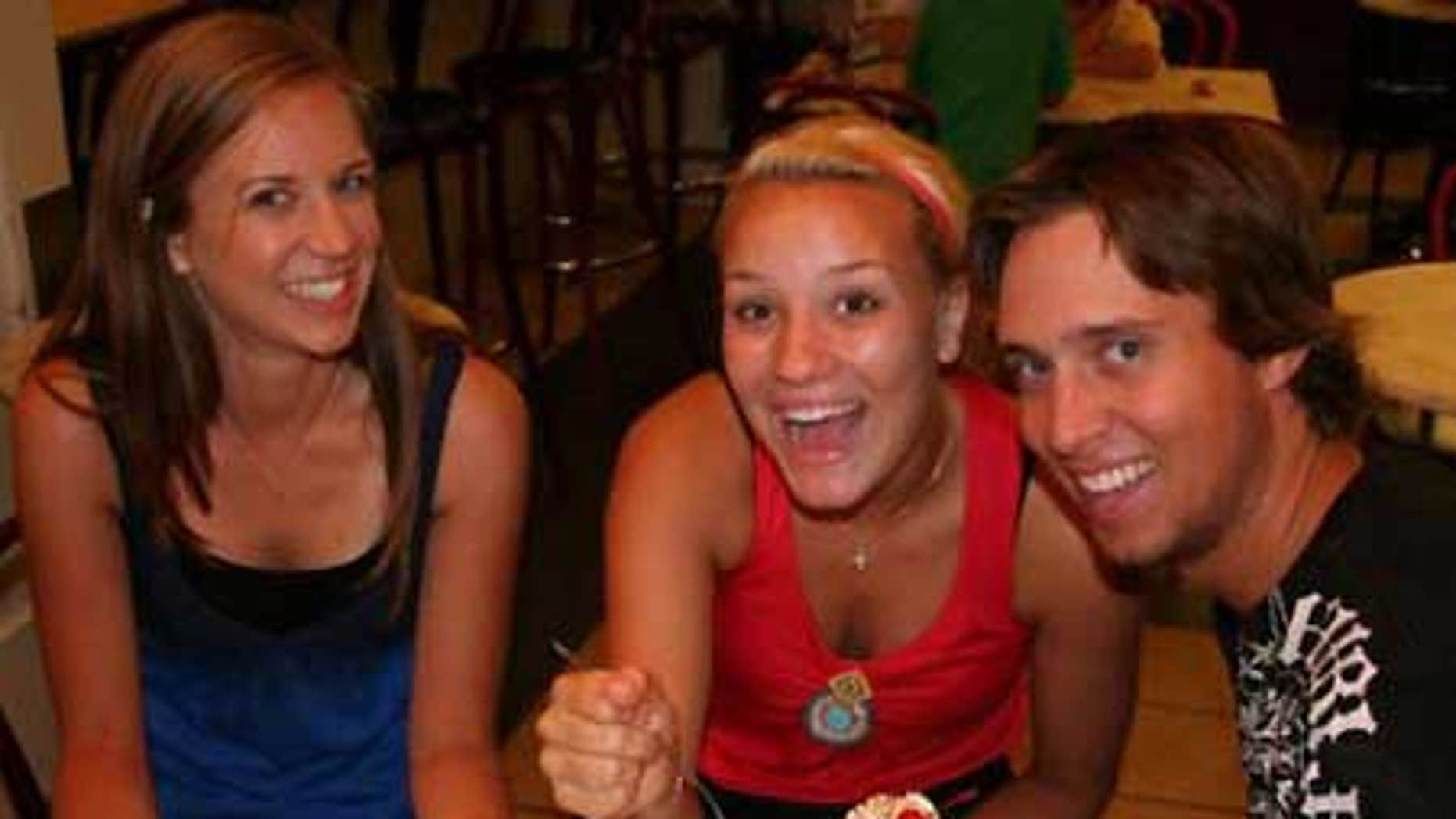 James Wernke with his sister Kristina (left) and girlfriend Sami Bock in July.
