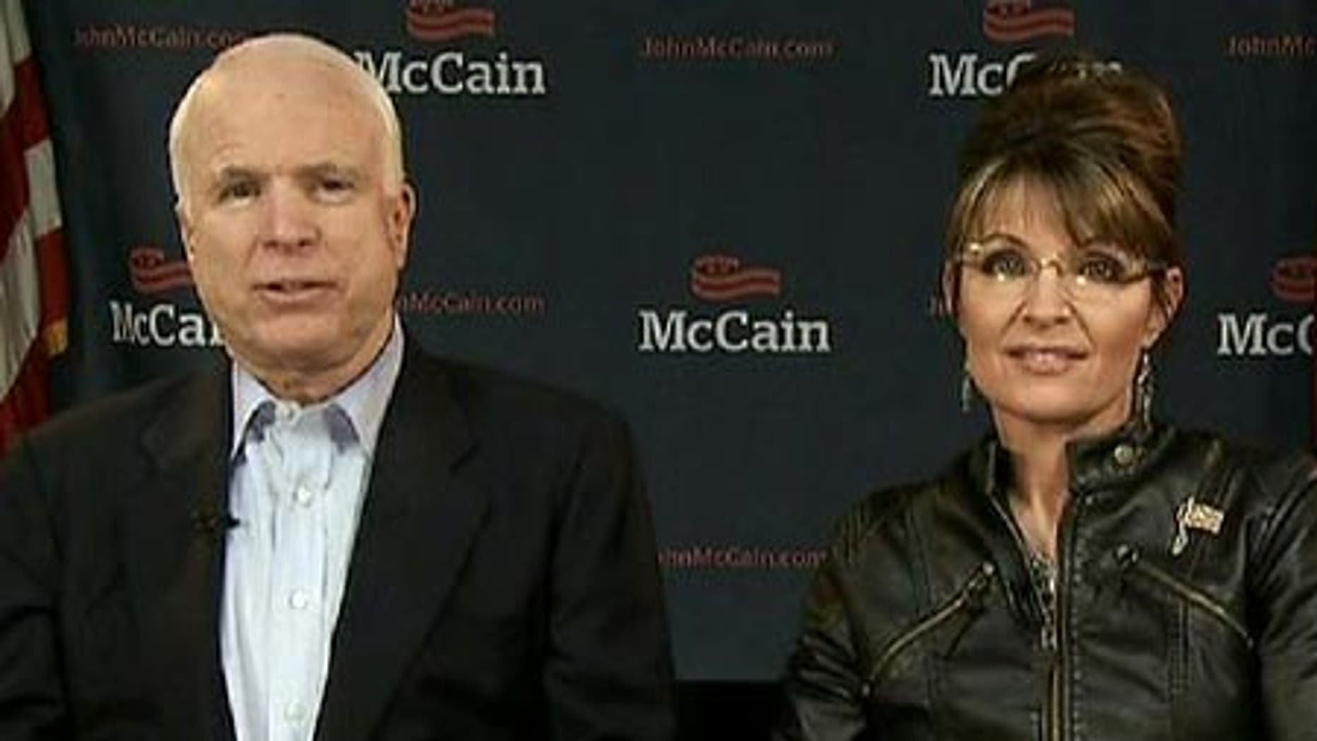 Sen. John McCain and Sarah Palin