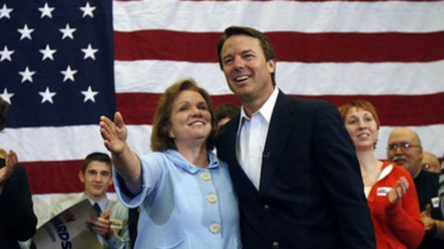 Jan. 1, 2008: Elizabeth Edwards and hsuband, former Democratic Presidential candidate John Edwards, a few months prior to the announcement of his affair.