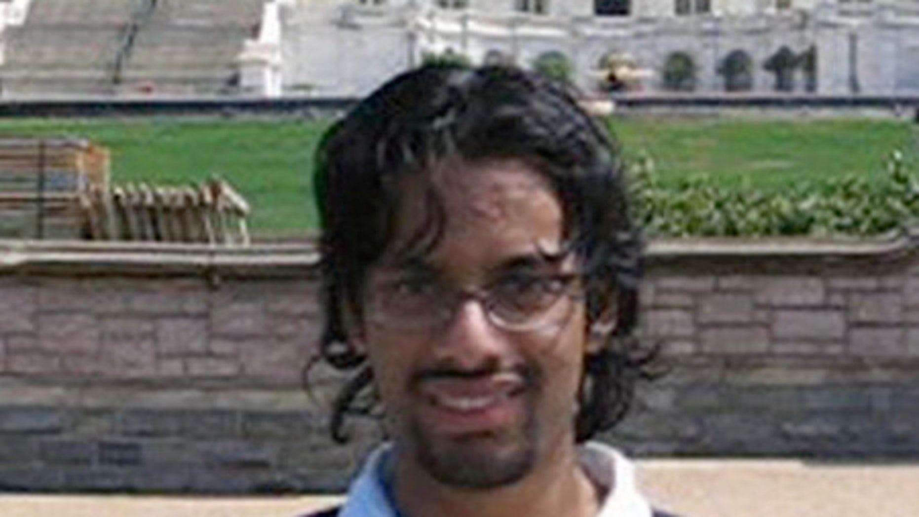 Ehsanul Islam Sadequee poses in front of the U.S. Capitol in a video recorded by his friend, a convicted terrorist, during their 2005 trip to Washington.