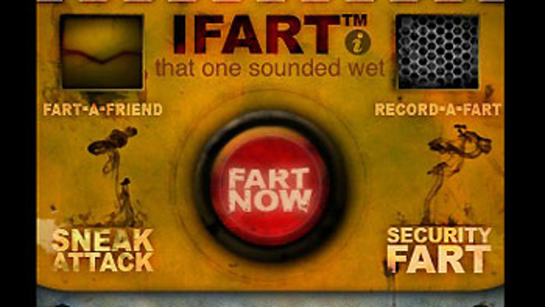 A screen shot of iFart on the iPhone.