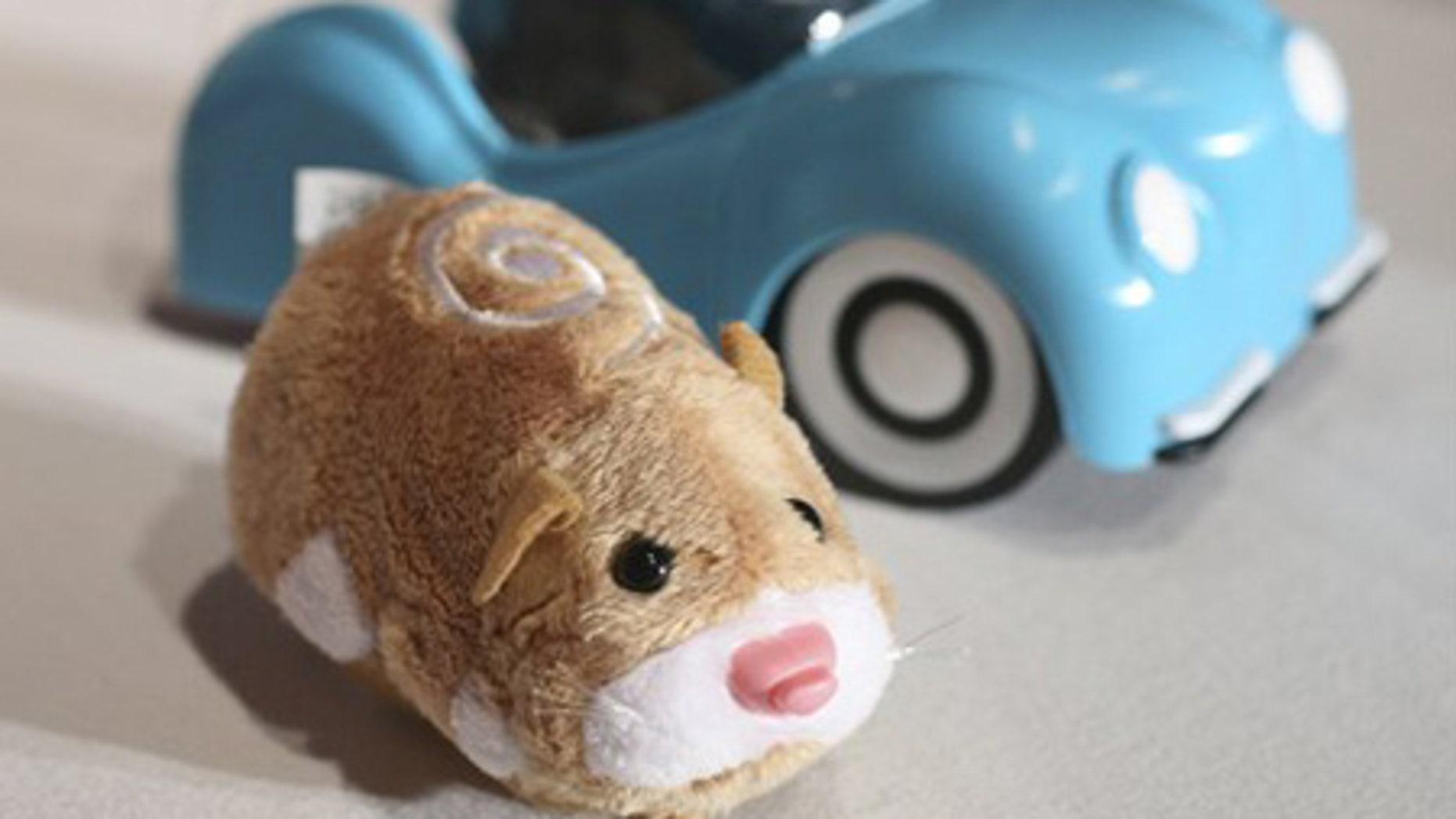 A hamster from Zhu Zhu Pets is seen.