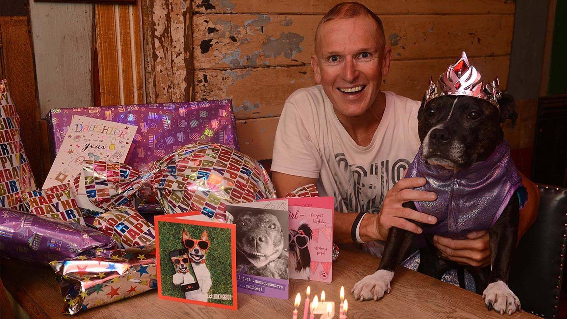 """Cleo's owner, Anthony Walsh, says his special dog is """"like a daughter to me."""""""