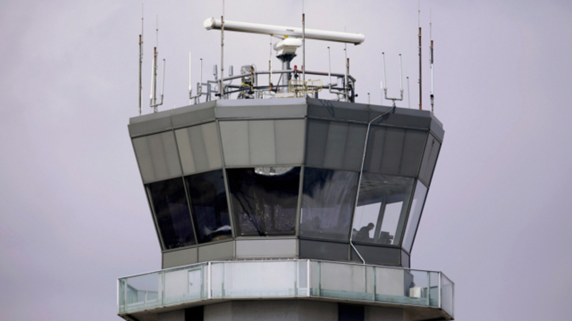 March 12, 2013: This photo shows the air traffic control tower at Chicago's Midway International Airport.