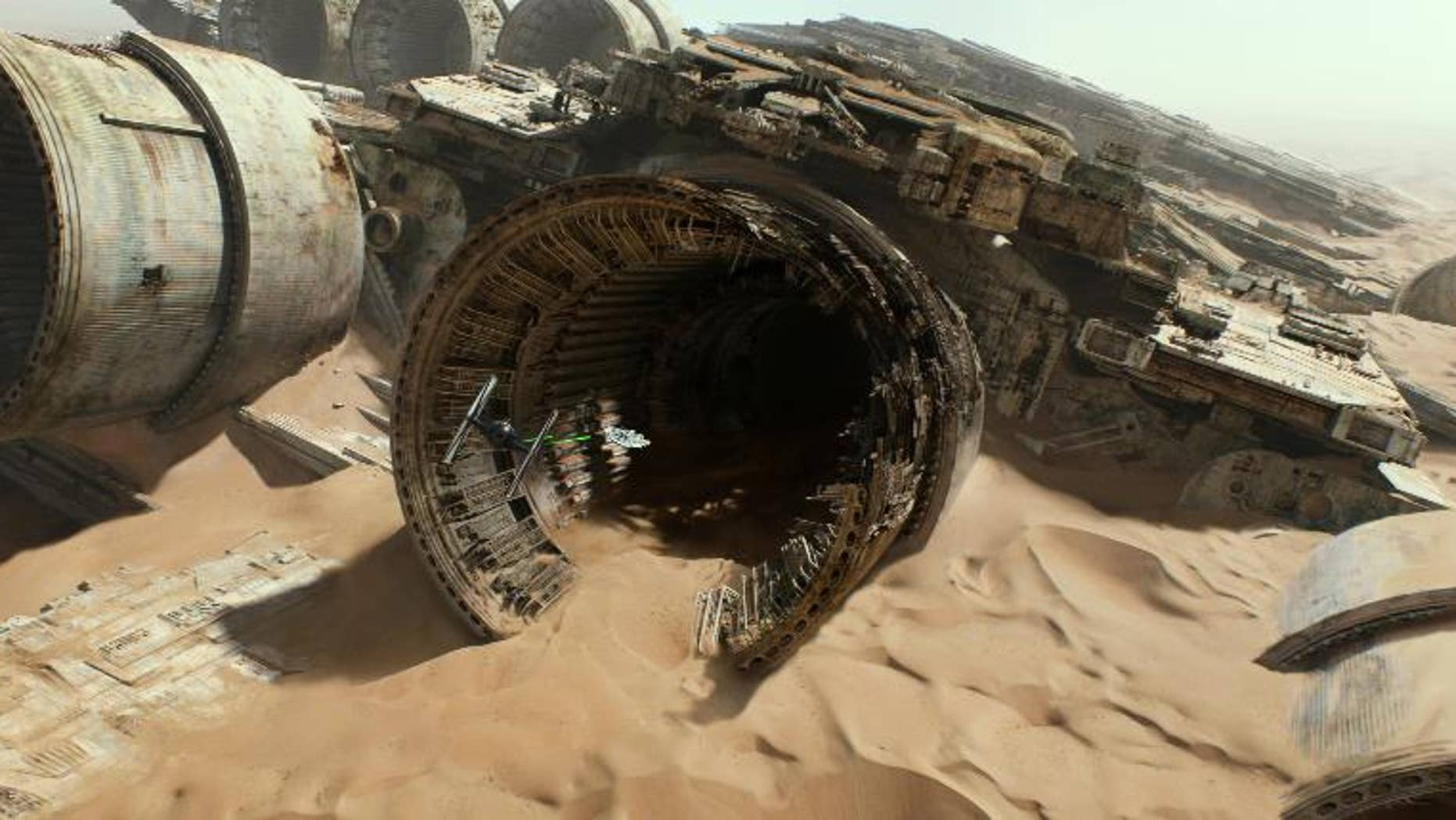 """This image released by Lucasfilm shows a scene from """"Star Wars: The Force Awakens,"""" the highly anticipated film by J.J. Abrams that hits theaters Dec. 18."""