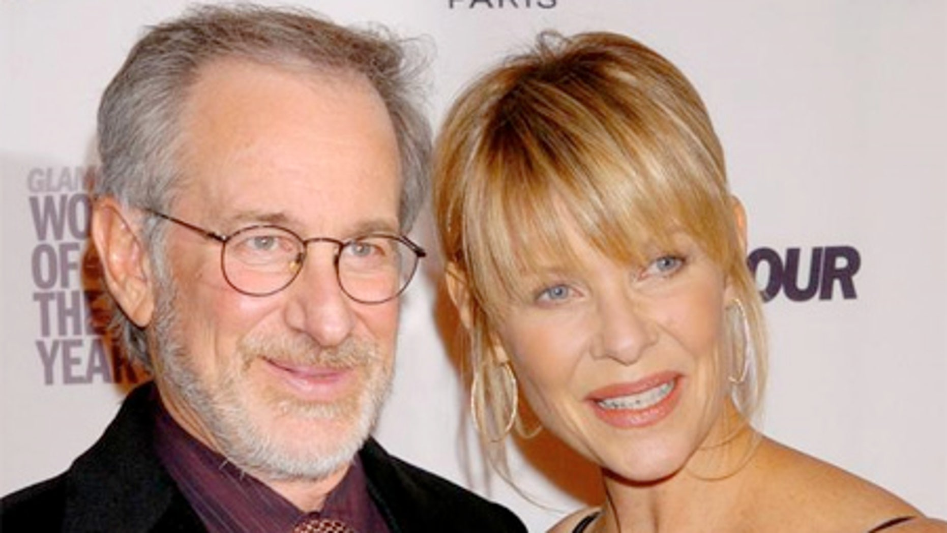 File Photo: Steven Spielberg and his wife Kate Capshaw.
