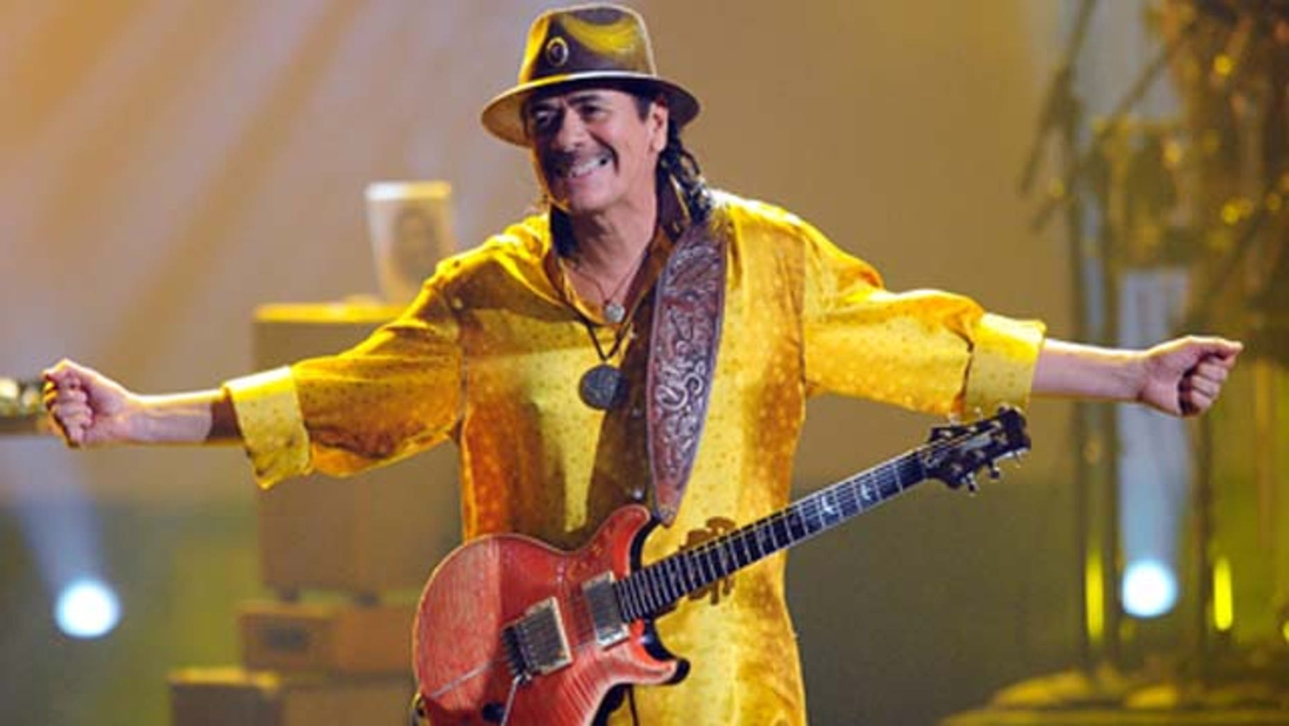 Nov. 21, 2010: Musician Carlos Santana performs onstage during the 2010 American Music Awards held at Nokia Theatre L.A. LiveLos Angeles, Calif.