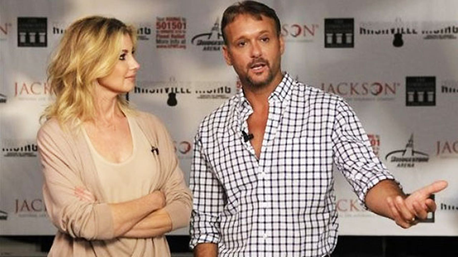 Tim McGraw pictured with his wife Faith Hill.